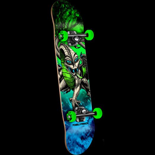 Powell Peralta Cab Dragon Storm Complete Skateboard Green/Blue - 7.5 x 28.65