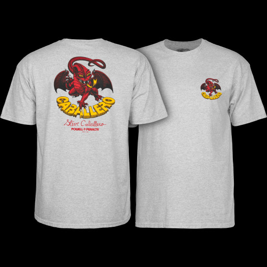 Powell Peralta Steve Caballero Original Dragon T-shirt - Gray