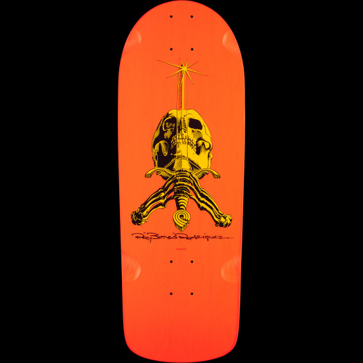 Powell Peralta Ray Rodriguez Skull and Sword OG Snub Skateboard Deck - 10 x 28.25