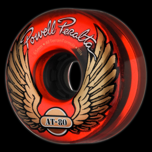 Powell Peralta AT-80 65mm 80a - Clear Red (4 pack)