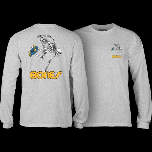 Powell Peralta Skateboarding Skeleton L/S Shirt Gray
