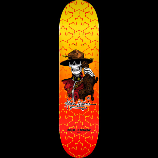 Powell Peralta Kevin Harris Mountie Skateboard Deck - 8 x 32.125