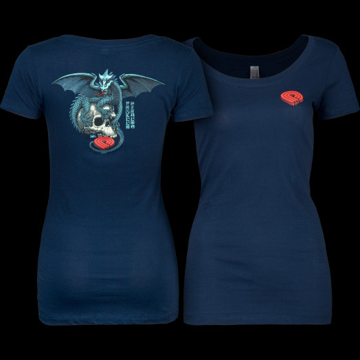 Powell Peralta Woman's T-Shirt Dragon Skull Navy
