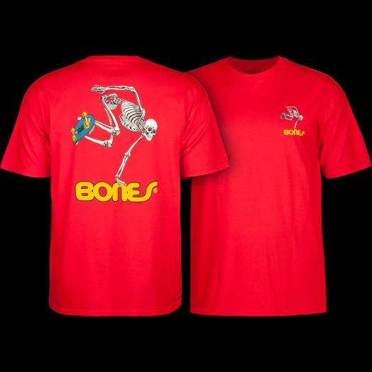 Powell Peralta Skateboarding Skeleton Youth T-shirt Red