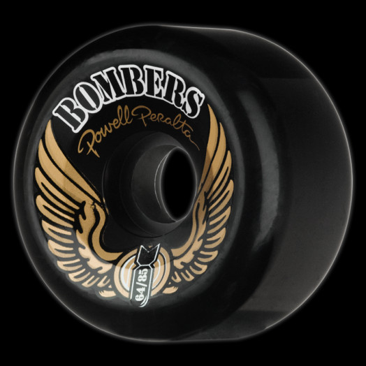 Powell Peralta Bombers 64mm 85a - Black (4 pack)