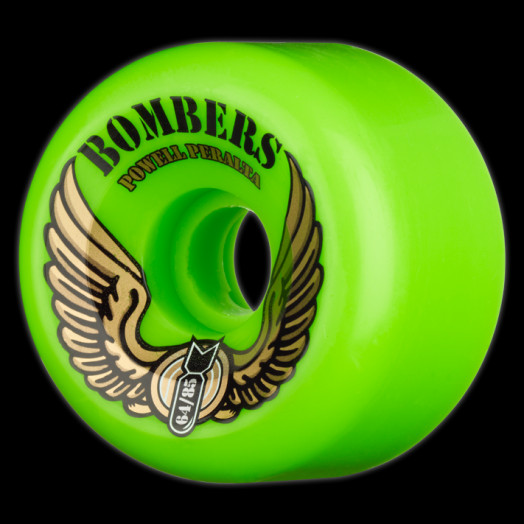 Powell Peralta Bombers 64mm 85a - Green (4 pack)